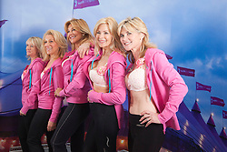 """© Licensed to London News Pictures. 12/05/2012. London, England. The Janet Reger Team with Nikki Zamblera, Aliza Reger, Nina Carter, Jilly Johnson and Anthea Turner. The MoonWalk London 2012, Celebrating 15 years of Moon Walking for the breast cancer charity """"Walk the Walk"""". Photo credit: Bettina Strenske/LNP"""