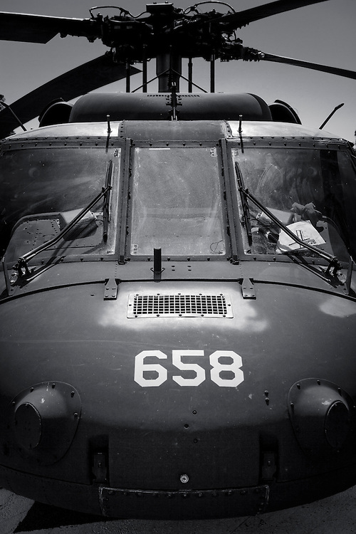 Nose of a South Carolina National Guard UH-60 helicopter.