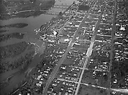 9969-0744. Aerial view of the business district of Salem, Oregon, January 23, 1932.