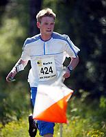 Orientering, 21. juni 2002. NM sprint. Marius Bjugan, Wing.
