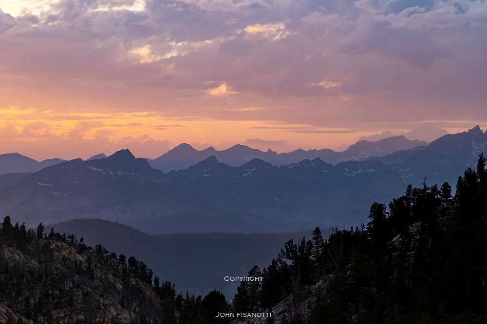 Sunset View from Squaw Lake, Pacific Crest Trail, John Muir Wilderness