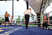 Boxen: SES Boxgala, Boxgala, Magdeburg, 05.06.2021<br /> Nenad Stancic (GER) - Jaroslav Hriadel (CZE)<br /> © Torsten Helmke