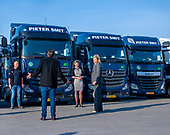 Koningin Maxima bezoekt transportbedrijf in Nieuw-Vennep