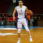 Anadolu Efes's Dogus Balbay during their Turkish Basketball League match Anadolu Efes between Ted Kolej at Abdi Ipekci Arena in Istanbul Turkey on Monday 16 March 2015. Photo by Aykut AKICI/TURKPIX