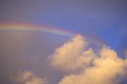 Rainbow, clouds<br />
