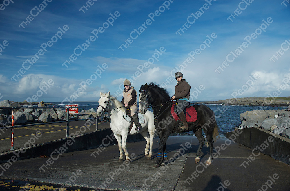 Taking a break at Doolin pier during the Peter Williams memorial Burren Hack in aid of the Irish Heart Foundation on Sunday.<br /> Kevin Lynch