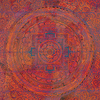 Beautiful ancient mandala remixed with color and texture.