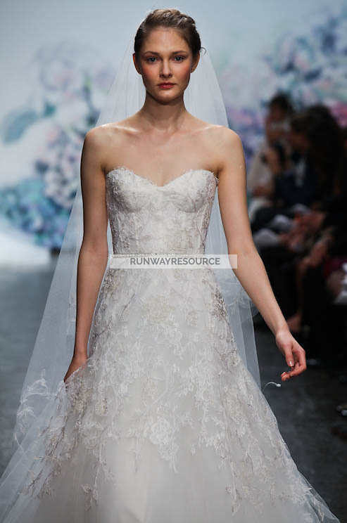 Monique Lhuillier runway show during New York Bridal Spring 2012