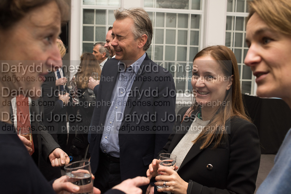 CATHERINE OSTLER,, ALBERT READ,Rachel Kelly celebrates the publication of ' Singing In the Rain' An Inspirational Workbook. 20 Cavendish Sq. London W1. 17 January 2019.