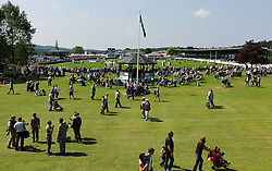© Licensed to London News Pictures.16/07/15<br /> Harrogate, UK. <br /> <br /> Thousands of visitors enjoy the sun as they watch the events on the final day of the Great Yorkshire Show. <br /> <br /> England's premier agricultural show has seen three days of showcasing the best in British farming and celebrating the countryside.<br /> <br /> The event which attracts over 130,000 visitors each year displays the cream of the country's livestock and offers numerous displays and events giving the chance for visitors to see many different countryside activities.<br /> <br /> Photo credit : Ian Forsyth/LNP