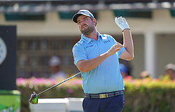 January 10, 2019 - Honolulu, HI, U.S. - HONOLULU, HI - JANUARY 10: Marc Leishman of Australia drops his club as he follows his tee shot at the 10th hole during the first round of the Sony Open on January 10, 2019, at the Waialae Counrty Club in Honolulu, HI. (Photo by Darryl Oumi/Icon Sportswire) (Credit Image: © Darryl Oumi/Icon SMI via ZUMA Press)
