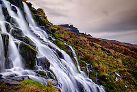 SCOTLAND - CIRCA APRIL 2016: The Bridal Veil Falls in Skye an Island in Scotland