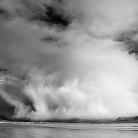 Massiv Hail Shower over Waterville, Reenroe Beach - famous irish weather, Ring of Kerry, ireland / wv068