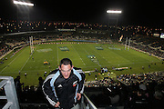 Mark Hammett at the top of Jade Stadium before the first Tri Nations rugby union match between the  New Zealand All Blacks and Australian Wallabies at Jade Stadium, Christchurch, New Zealand on Saturday 8 July, 2006. The All Blacks won the match 32 - 12. Photo: Hannah Johnston/PHOTOSPORT<br /><br /><br /><br /><br />080706