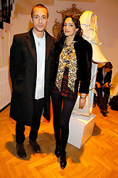 VISCOUNT MACMILLAN and ASTRID MUNOZ at the TOD's Art Plus Film Party 2008 hosted by The Whitechapel Art Gallery at a former church at 1 Marylebone Road, London NW1 on 6th March 2008.<br />