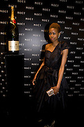 TOLULA ADEYEMI, A Tribute to Cinema party given by Moet and Chandon.Big Sky Studios, Brewery Rd. London.  24 March 2009 *** Local Caption *** -DO NOT ARCHIVE-© Copyright Photograph by Dafydd Jones. 248 Clapham Rd. London SW9 0PZ. Tel 0207 820 0771. www.dafjones.com.<br /> TOLULA ADEYEMI, A Tribute to Cinema party given by Moet and Chandon.Big Sky Studios, Brewery Rd. London.  24 March 2009