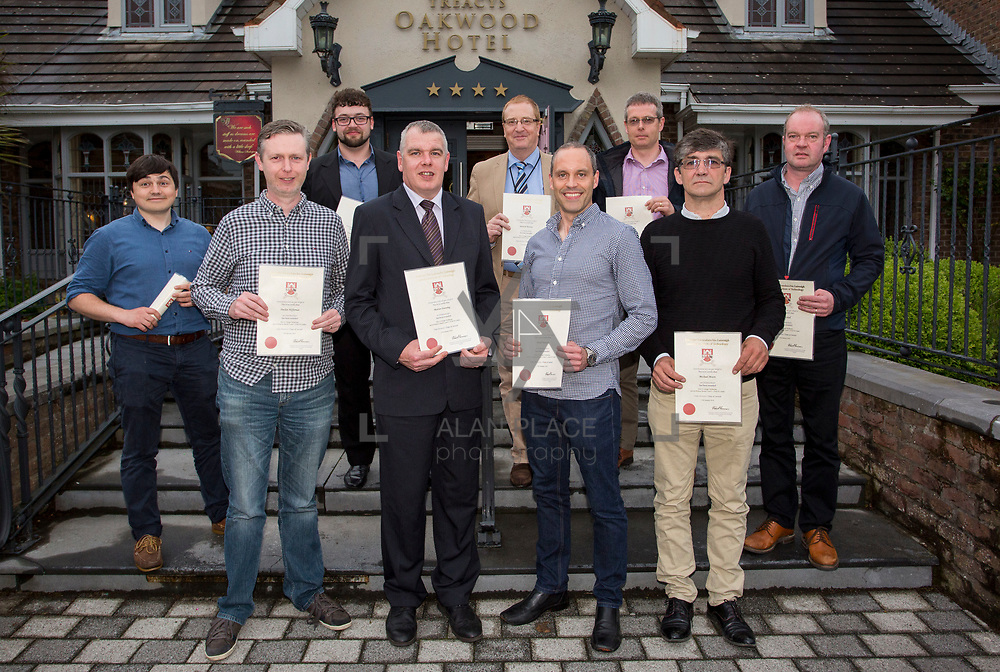 24.05.2018.       <br /> The Limerick Institute of Technology with Atlantic Air Adventures and funding from the Aviation Skillnet presented over forty certificates to Aviation professionals who have completed the Certificate in Aviation, The Aircraft Records Technician Level 7 and Part 21 Design, Level 7.<br /> <br /> Pictured at the event were, Part 21 cert recipients.<br /> <br /> LIT in partnership with Atlantic Air Adventures, CAE Parc Aviation, Part 21 Design and industry experts such as Anton Tams, GECAS, Don Salmon, CAE Parc Aviation and Mick Malone, Part 21 Design have developed and deliver these key training programmes with funding for aviation companies provided by The Aviation Skillnet.<br /> <br /> . Picture: Alan Place