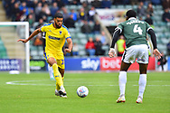 Jake Jervis (10) of AFC Wimbledon on the attack during the EFL Sky Bet League 1 match between Plymouth Argyle and AFC Wimbledon at Home Park, Plymouth, England on 6 October 2018.