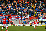 A packed stand full of Rangers fans during the Ladbrokes Scottish Premiership match between Hamilton Academical FC and Rangers at The Hope CBD Stadium, Hamilton, Scotland on 24 February 2019.