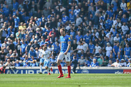 A dejected looking Portsmouth Defender, Matt Clarke (5) as they trail 0-1 during the EFL Sky Bet League 1 match between Portsmouth and Coventry City at Fratton Park, Portsmouth, England on 22 April 2019.