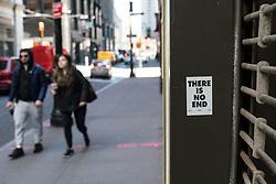 EXCLUSIVE: Downtown Manhattan during the Covid-19 Corona Virus pandemic. 18 Mar 2020 Pictured: Covid-19, Corona Virus, pandemic, New York. Photo credit: Joe Russo / MEGA TheMegaAgency.com +1 888 505 6342