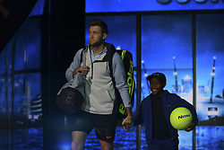 November 16, 2017 - London, England, United Kingdom - US player Jack Sock arrives to play Germany's Alexander Zverev in their men's singles round-robin match on day five of the ATP World Tour Finals tennis tournament at the O2 Arena in London on November 16 2017. (Credit Image: © Alberto Pezzali/NurPhoto via ZUMA Press)