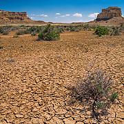 Chaco Canyon Mesa And Dry Lake Bed - New Mexico