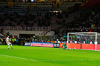 Leonardo Bonucci Juventus segna il rigore decisivo. Leonardo Bonucci scores the last penalty <br /> Milano 02-03-2016 Stadio Giuseppe Meazza Football Calcio 2015/2016 Coppa Italia / Italy Cup Inter - Juventus Foto Giuseppe Celeste / Insidefoto