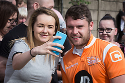 © Licensed to London News Pictures . 02/08/2015 . Droylsden Football Club , Manchester , UK . Actor DANNY MILLER poses for photos . Celebrity football match in aid of Once Upon a Smile and Debra , featuring teams of soap stars . Photo credit : Joel Goodman/LNP