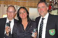 TEXEL - De Cocksdorp - Anne Marte van Ree (m)  Eric Korver  en Ger Laan.   Golfbaan De Texelse. COPYRIGHT KOEN SUYK