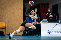 Romy Brokking #2 of Talent Team  in action during the first league match in the corona lockdown between Talentteam Papendal vs. Sliedrecht Sport on January 09, 2021 in Ede.