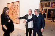 CAROLE SILLER; HAMISH MCALPINE; GEORGE CONDO; , George Condo: Mental States. Hayward Gallery. Southbank Rd. London. 17 October 2011. <br /> <br />  , -DO NOT ARCHIVE-© Copyright Photograph by Dafydd Jones. 248 Clapham Rd. London SW9 0PZ. Tel 0207 820 0771. www.dafjones.com.
