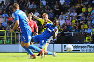 Burton Albion midfielder David Templeton (11) scores a goal, 2-0 during the EFL Sky Bet League 1 match between Burton Albion and AFC Wimbledon at the Pirelli Stadium, Burton upon Trent, England on 1 September 2018.
