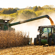 Corn is harvested in one of Jepson Family Farms' fields south of Orlinda, Tennessee. Nathan Lambrecht/Journal Communications