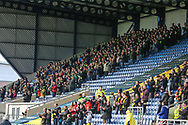 Forest Green Rovers away support during the The FA Cup 1st round match between Oxford United and Forest Green Rovers at the Kassam Stadium, Oxford, England on 10 November 2018.
