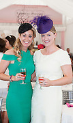 30/07/2015 report free : Jockey's Wives Chanelle Burke, McCoy and Gillian Walsh at the Laurent Perrier Champagne Marquee at The Galway Races . . Photo:Andrew Downes, xposure
