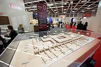 DEU, Deutschland, Germany, Berlin, 03.10.2011:<br />Ein Modell des Flughafens Berlin-Brandenburg (BER) Willy Brandt auf der Luftfahrt-Messe World Route Development Forum.