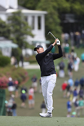 April 8, 2018 - Augusta, GA, USA - Jordan Spieth hits his fairway shot on one during the final round of the Masters at Augusta National Golf Club on Sunday, April 8, 2018, in Augusta, Ga. (Credit Image: © Curtis Compton/TNS via ZUMA Wire)