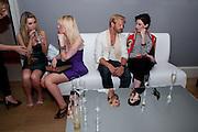 EMILY SHEEDY; JENNA WILLIS; ALISTAIR GUY; ERIN O' CONNOR;, Elizabeth Arden.-100th anniversary party. 33 Fitzroy Square, London W1, 29 June 2010. DO NOT ARCHIVE-© Copyright Photograph by Dafydd Jones. 248 Clapham Rd. London SW9 0PZ. Tel 0207 820 0771. www.dafjones.com.