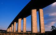 A753WB Orwell bridge concrete support columns Suffolk England