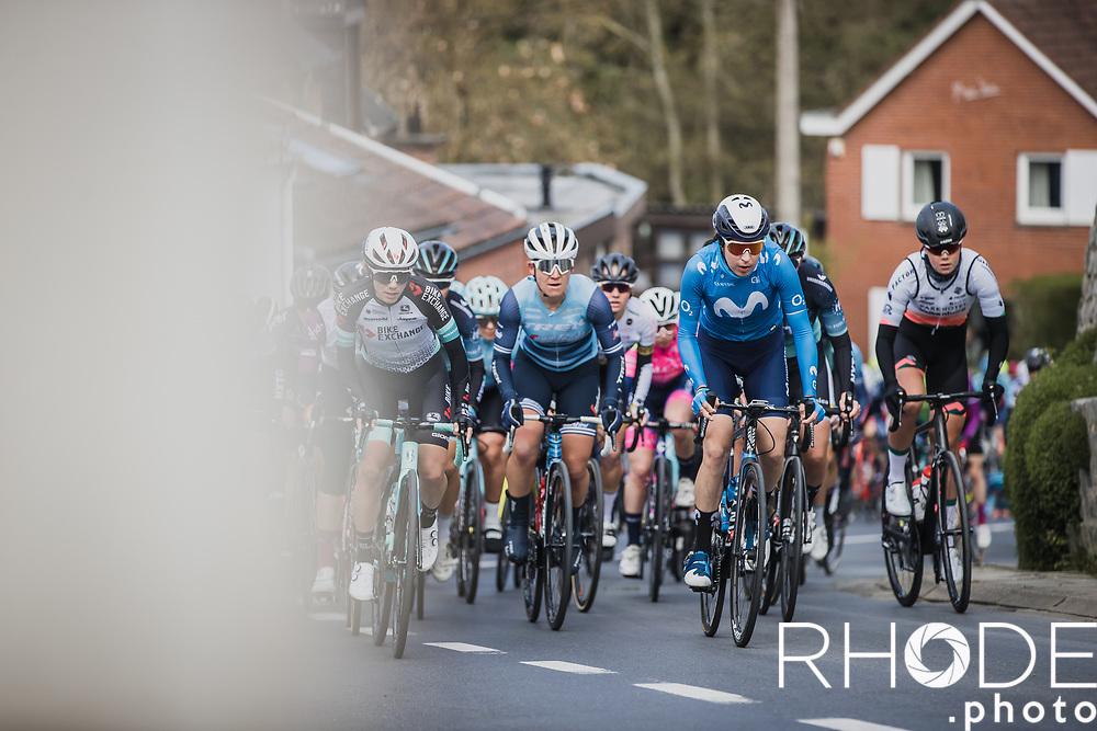 Peloton up the Sollenberg<br /> <br /> Women's Elite Brabantse Pijl 2021 <br /> 1 Day Race: Lennik - Overijse 127km<br /> <br /> ©Rhode.Photo