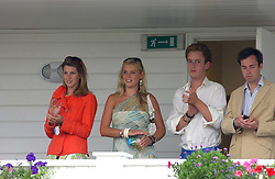 CHELSEY DAVY (in green) on the balcony of the Royal Box at the Cartier International polo at Guards Polo Club, Windsor Great Park, on 30th July 2006.<br /><br />NON EXCLUSIVE - WORLD RIGHTS