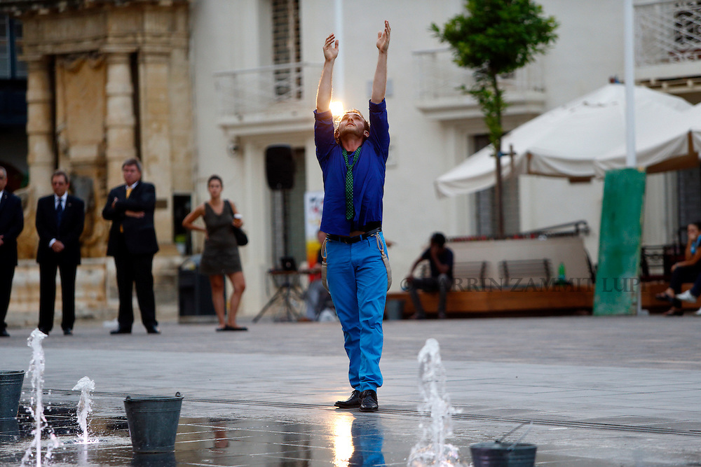 Open Waters.by Irina Pauls.St George's Square, Valletta.premiere performance.Photo by DARRIN ZAMMIT LUPI