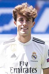 July 18, 2018 - Madrid, Spain - Alvaro Odriozola during his presentation as new Real Madrid player at Santiago Bernabéu Stadium in Madrid, Spain. July 18, 2018. (Credit Image: © Coolmedia/NurPhoto via ZUMA Press)