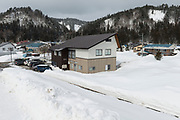 The Nekka Shochu Distillery, Tadami, Fukushima, Japan, February 20, 2018. The Nekka shochu distillery was founded in July 2016 and at that time was the smallest shochu distillery in Japan. It makes shochu from locally-grown rice, and is helping support a local economy that has languished since the nuclear disaster of 2011.