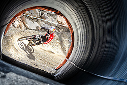 14.06.2014, Bike Park, Leogang, AUT, UCI, Mountainbike Weltcup, Leogang, Downhill, Herren, im Bild Loic Bruni (FRA) // during Mens Downhill of UCI Mountainbike Worldcup at the Bikepark, Leogang, Austria on 2014/06/14. EXPA Pictures © 2014, PhotoCredit: EXPA/ JFK