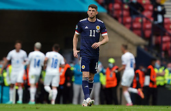 Scotland's Ryan Christie stands dejected after Czech Republic's Patrik Schick scored the opening goal during the UEFA Euro 2020 Group D match at Hampden Park, Glasgow. Picture date: Monday June 14, 2021.