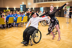 Dancers perform during Award ceremony at Day 4 of 15th Slovenia Open - Thermana Lasko 2018 Table Tennis for the Disabled, on May 12, 2018, in Dvorana Tri Lilije, Lasko, Slovenia. Photo by Vid Ponikvar / Sportida