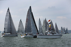 Brewin Dolphin Scottish Series 2014, the start of an International IRC competition racing on the Solent off Cowes and hosted by the RORC.<br /> <br /> The First start of the series off Osbourne Bay<br /> <br /> Credit: Marc Turner