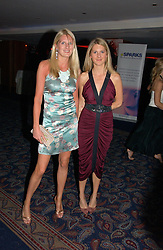 Left to right, sisters LADY MARIA BALFOUR and LADY KINVARA BALFOUR at the Boodles Boxing Ball in aid of the sports charity Sparks  organised by Jez lawson, James Amos and Charlie Gilkes held at The Royal Lancaster Hotel, Lancaster Terrae London W2 on 3rd June 2006.<br /> <br /> NON EXCLUSIVE - WORLD RIGHTS